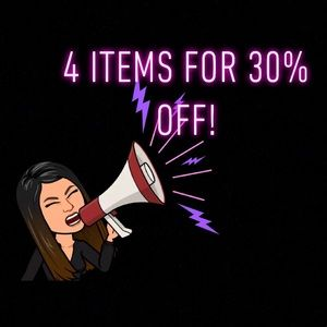 🎉SALE 🎉 4 items 30% off!